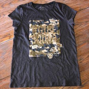 PLACE girl squad cotton blend T shirt/girls 14